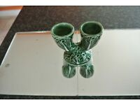 """China Double Egg Cup with Cabbage Pattern 4.5"""" along x 3"""""""