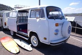 VW T2 1973 Bay Window Campervan NEW 12 MONTHS MOT