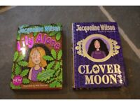 Jacqueline Wilson books x 2 hardback books - Clover Moon & Lily Alone