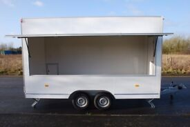 Unfurnished catering trailer 4.2m X 2.04m X 2.3m 2000kg twin axle