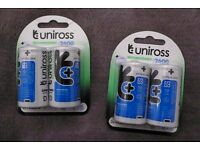 Brand New Rechargeable Batteries – D size 2500mHA