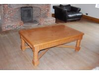 Lovely chunky solid pine coffee table