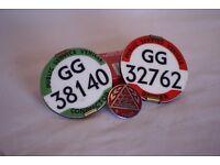 vintage bus driver badges