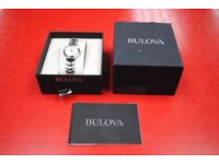 Bulova Ladies Diamond Quartz Watch with Mother of Pearl Dial 96P165 New with Tags £60