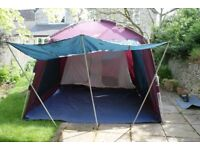 Khyam Rigidome XL 4 Berth Tent. Quick erect tent including table, extra mesh groundsheet for outer