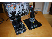 "Thrustmaster HOTAS ""Warthog""(Hands On Throttle And Stick) replica joystick pack."