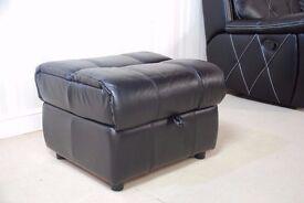 Designer Leather Black Stool (59) £129