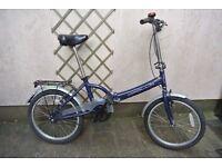 Womens Blue Apollo Folding Bike For Sale