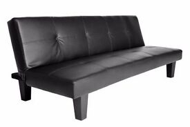 **14-DAY MONEY BACK GUARANTEE!** CLEARANCE! Black or Brown Leather Sofabed - SAME DAY DELIVERY!