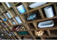 ZIGZAG PIGEON HOLES free delivery character weathered salvaged solid wood bookcase Brighton gplanera