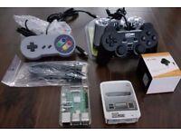 SNES MINI CLASSIC - RASPBERRY PI 3 RETROPIE - 31 SYSTEMS KODI 2 PADS NES MEGADRIVE MAME PS1 PSP N64