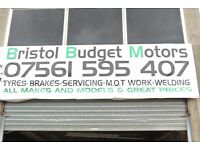 BRISTOL BUDGET MOTORS MOT Work-Clutches-Brakes-Tyres-Welding-Diagnostics All makes car & van repairs