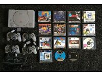 Playstation 1, 4 Controllers + 12 Games + 3 Demos - Excellent Condition