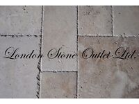 BRAND NEW - Rustic Antique Travertine Brushed & Chiselled-Edge Opus Pattern Set