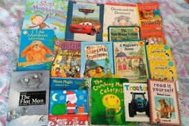 Large Bundle of Kids / Toddlers Books - Scooby Doo, Disney Cars, Enid Blyton etc. 18 Books