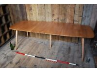 Ercol EXTENDING plank TABLE + CHAIRS? 1950s 1960s natural vintage mid century mod gplanera