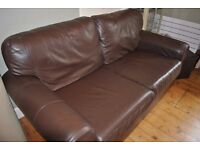 leather sofa from Ikea - Ektorp - very good condition and comfortable.
