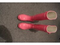 Hunter wellies pink size 5