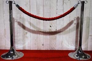 Poteaux de foule Noir ou Chrome, Cordons de foule Rouge ou Noire