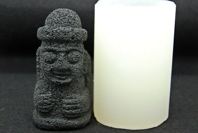 Jeju statue L, Silicone Mold Chocolate Polymer Clay Soap Melting Wax Resin