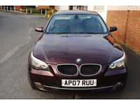 BMW 520D SE SALOON 2007 FSH 117K 2 OWNERS BLACK LEATHER NICE CAR ONLY £3995