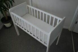 Mothercare Crib and Airflo Mattress with extras