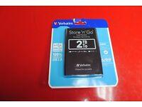 Verbatim Store 'N' Go 2TB 53177 Portable Hard Drive Brand New £70