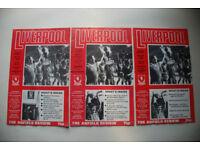 Liverpool Football Programmes 1978