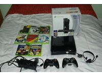 Xbox 360 S 250gb Console Boxed Excellent Condition + 2 Controllers + Games