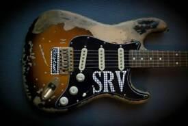 Fender Squier SRV replica stratocaster relic roadworn custom