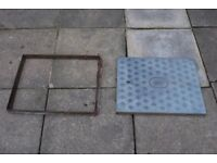 Manhole cover - lid and frame.