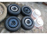 "O.Z Rally Wheels 4x100 15"" 7J RARE 90's Classic Wheels VW BMW AUDI HONDA MITSUBISHI NISSAN"