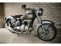 Sunbeam S8 classic motorcycle. 500cc OHC shaft drive twin.