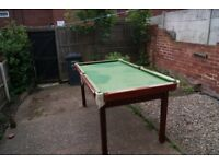 E. J. Riley Snooker Table for Sale, Slate Bed, Comes with Snooker balls and Billiards balls