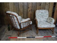 ERCOL armchairs golden dawn vintage elm England London Brighton cottage reading gplanera