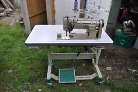 SINGER 212 DOUBLE Needle SPLIT BAR KNOCK OUT NEEDLE FEED Industrial Sewing Machine