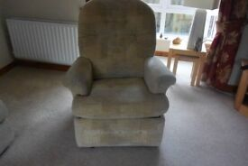 reclining armchair in good working order some wear