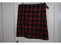KILT IN FALKIRK FC TARTAN WITH MATCHING FLASHES AND TIE