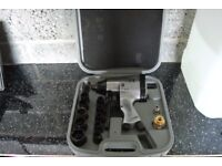 Air Compressor Impact Gun and Air Ratchet with Carry Case and Sockets
