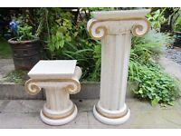 Solid Wood - Classic Roman / Greek Ornate Pillar / Column / Pedestal / Plinths.