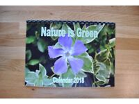 2018 nature art calendar Inc dragon fly, frogs,butterfly. UNIQUE GIFT Xmas