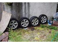 "16"" vauxhall 5 stud alloys in exellant condition"