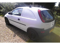 Vauxhall Corsa Van Diesel - 122,000 miles, White, 6 month MOT, with security grilles