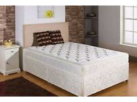 FREE FAST DELIVERY!! SINGLE DIVAN BED WITH MATTRESS HEADBOARD & DRAWERS OPTIONAL