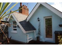 Very attractive 2-3 bed attic flat in quiet, central location with roof terrace and parking