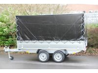 Box trailer 3m x 1.5m 750kg twin axle with drop sides