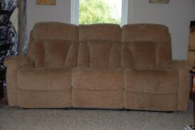 Parker Knoll 3 seater recliner sofa