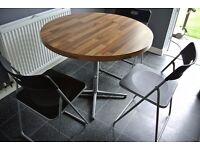 Kitchen Table & Foldaway Ikea Chairs