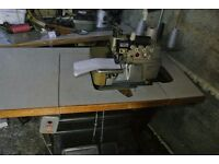Mauser Spezial 4-thread TOP & BOTTOM FEED Overlock Industrial Sewing Machine