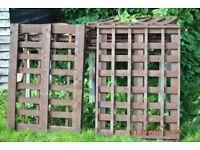 8 x trellis fence panels double sided 115cm x 84cm freshly painted